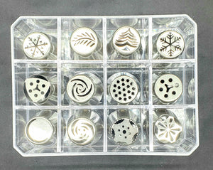 RUSSIAN PIPING TIPS 12PC. XMAS