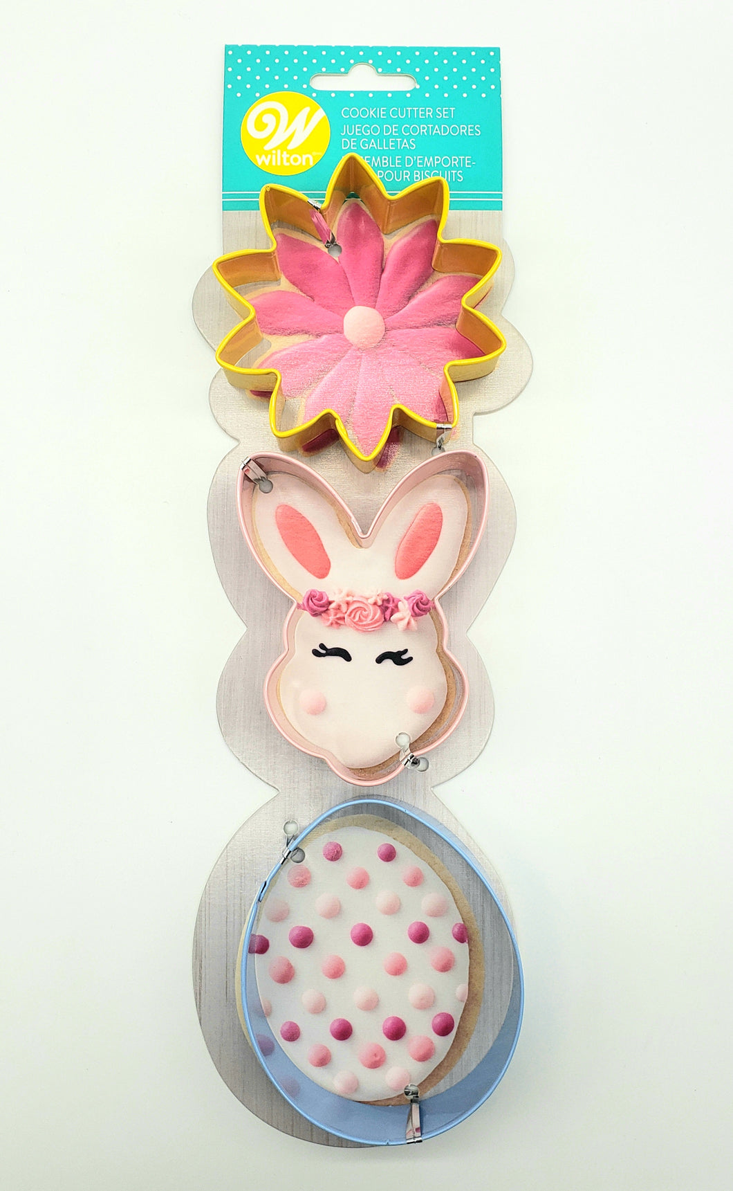 COOKIE CUTTER SET EASTER FLOWER/BUNNY/EGG 3PC.