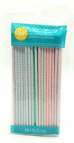 TREAT STICKS 30PC. ASSORTED PASTEL DOTS