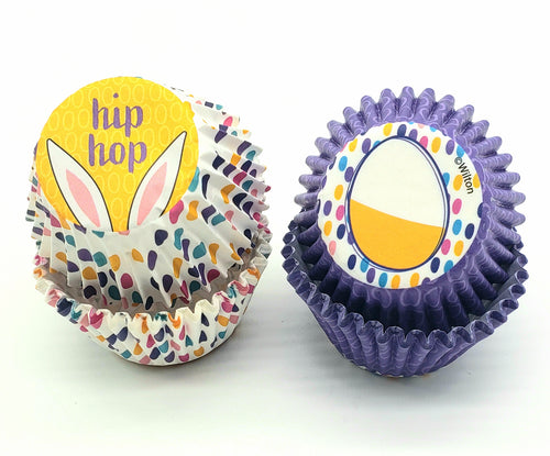 BAKING CUPS MINI EASTER HIP HOP 100PC.