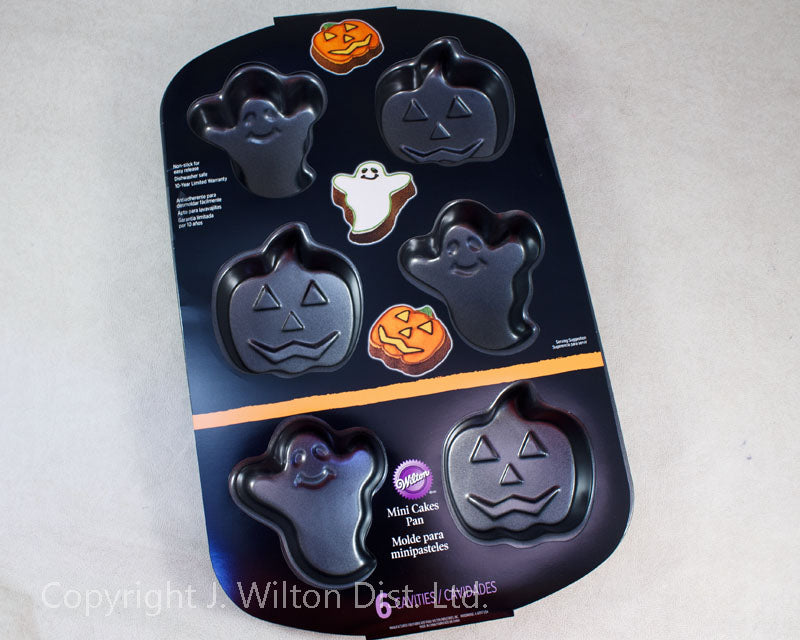 CAKE PAN HALLOWEEN GHOST & PUMPKIN 6 CAVITY