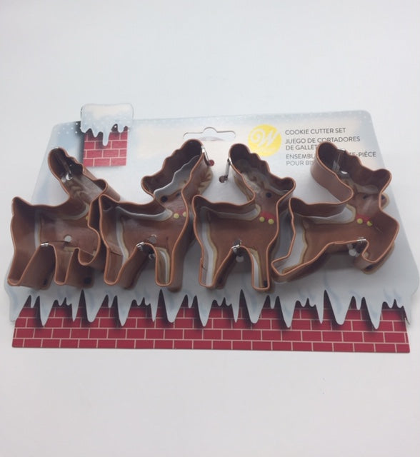 COOKIE CUTTER SET REINDEER 4PC.