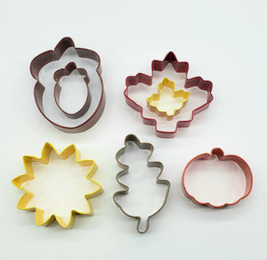 COOKIE CUTTER SET METAL AUTUMN 7PC.