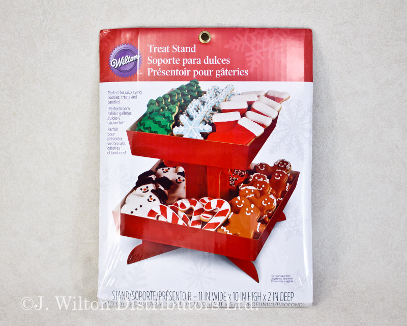 CUPCAKE & TREAT STAND RED TRAY
