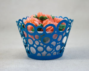 CUPCAKE WRAPPER 12PC. ROUND BUBBLES