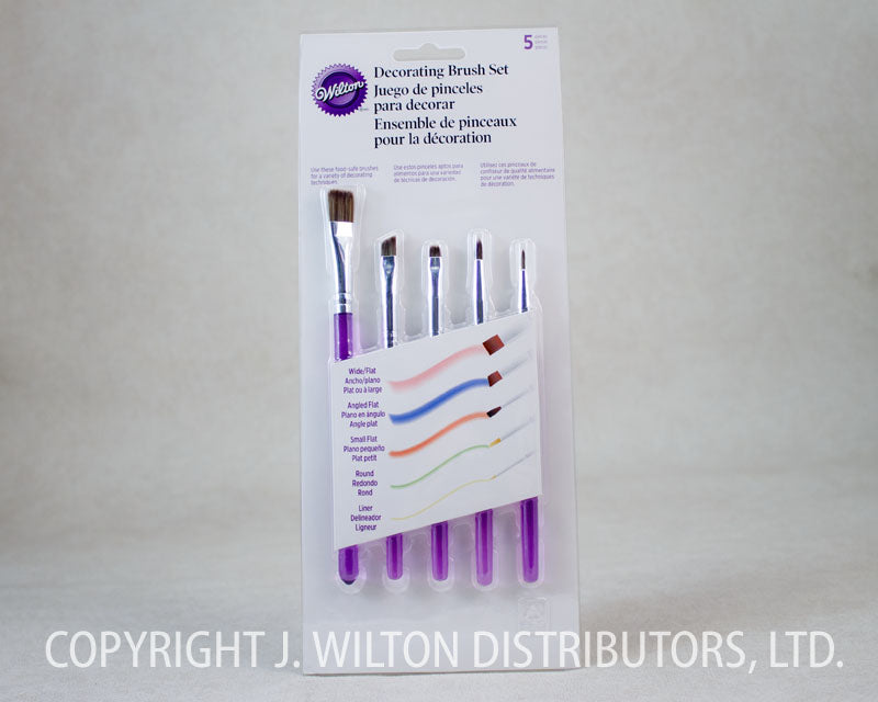 DECORATING BRUSH SET 5PC.