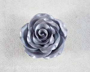 "ROSE SINGLE 2"" SILVER 3pc."