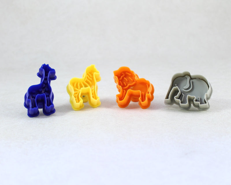 COOKIE CUTTER JUNGLE ANIMALS 4PC