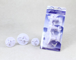 DOVE PLASTIC PLUNGER CUTTER 3PC