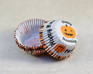 "BAKING CUP STANDARD HALLOWEEN ""HAPPY HAUNTING"" 75PC."