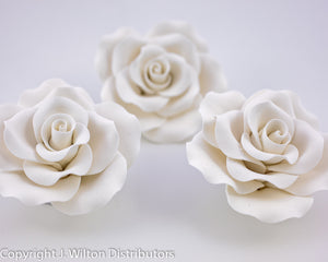 "OLD FASHIONED ROSE 3"" 3PC WHITE"