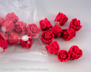 "ROSE 1/2"" 24PC RED"