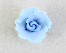 "FORMAL ROSE MEDIUM LARGE 1 1/2"" 8PC PASTEL BLUE"