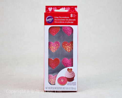 ROYAL ICING DECORATIONS BUBBLE HEART SHIMMER