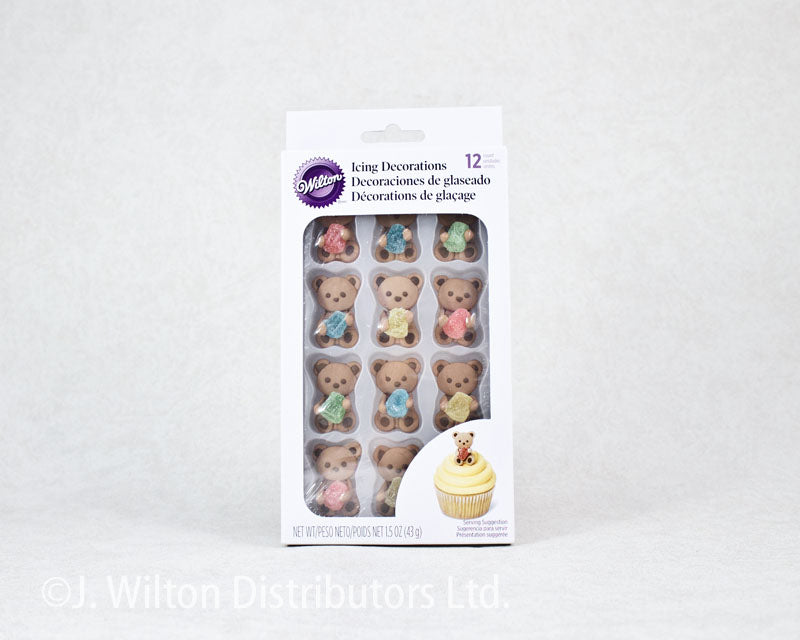ICING DECORATION ROYAL 12PC BEAR W/ GUM DROP