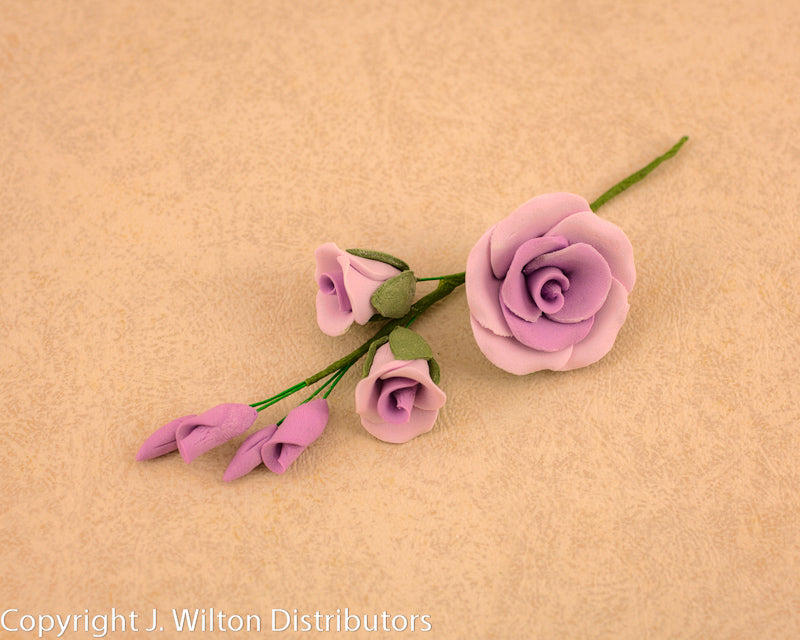 GUMPASTE  ROSE FILLER MEDIUM 3PC LAVENDER
