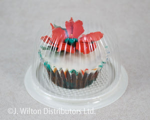 CUPCAKE DOME 2 PART 100PC. CLEAR