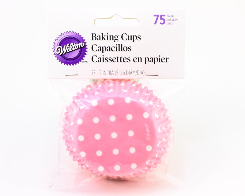 STANDARD BAKING CUP-DOTS-LIGHT PINK