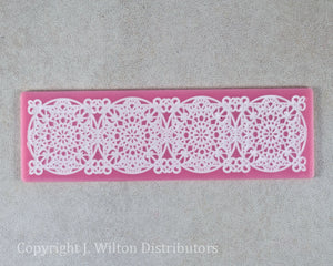 "SILICONE LACE MAT 8""x2.5"" FLORAL3"