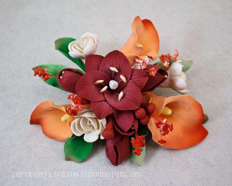 CASABLANCA LILY TOPPER MEDIUM RED