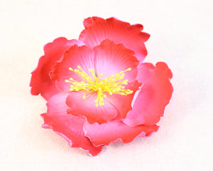 PEONY 2PC DARK PINK W/ YELLOW STAMEN