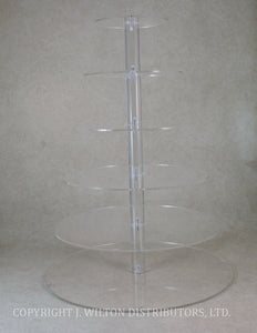 ACRYLIC CAKE STAND 6 TIER CLEAR ROUND