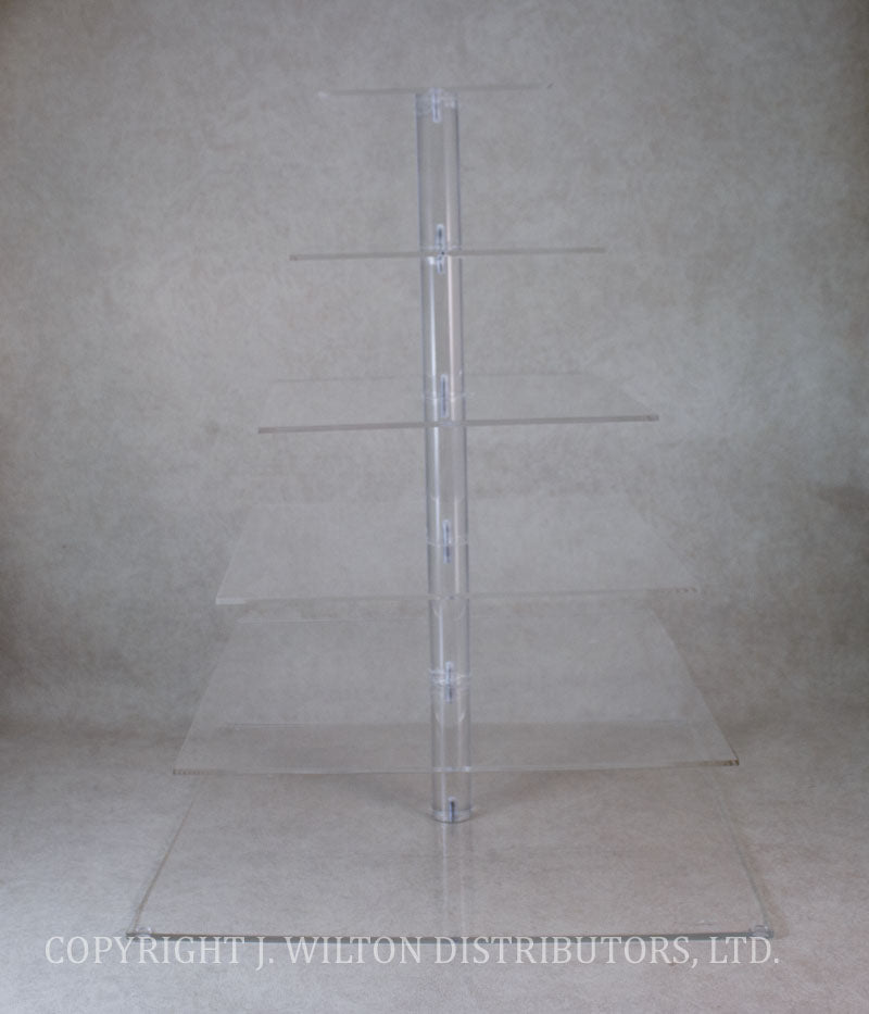 ACRYLIC CAKE STAND 6 TIER CLEAR SQUARE