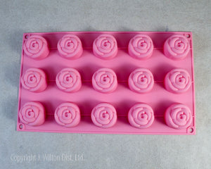 SILICONE MOLD ROSE 1PC.