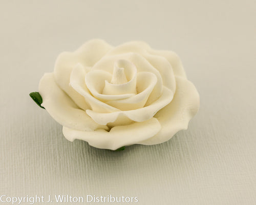 GUMPASTE ROSE LARGE 6PC WHITE