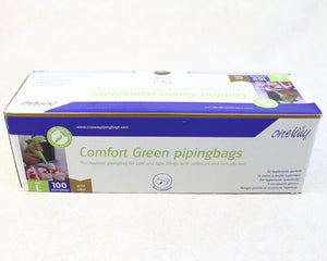 "DISPOSABLE BAGS 21"" 100PC COMFORT GREEN"