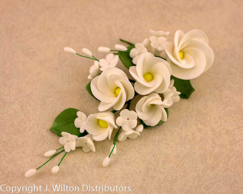 GUMPASTE FRANGIPANI BUNCH 1PC WHITE