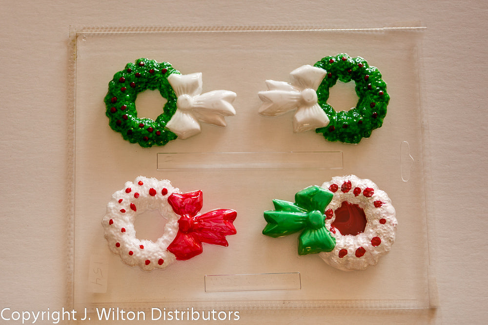WREATH WITH RIBBON X 4