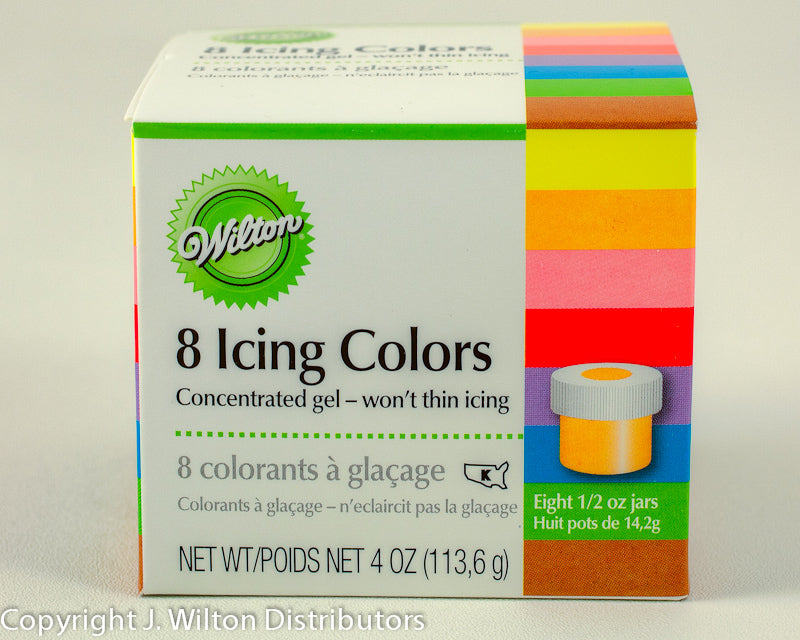 8-ICING COLOR KIT 1/2 OZ