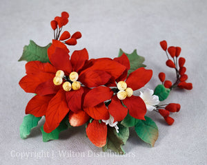 POINSETTIA SPRAY 1PC. RED