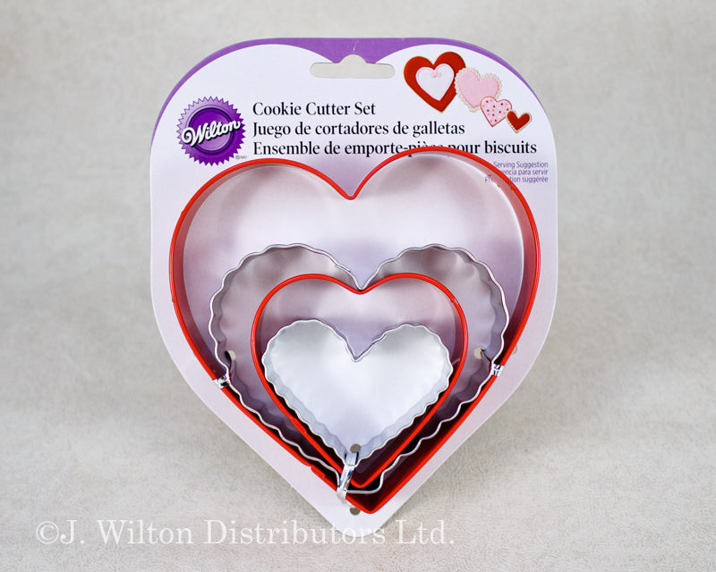 COOKIE CUTTER SET 4PC. NESTING HEART