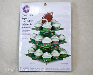 CUPCAKE & TREAT STAND FOOTBALL