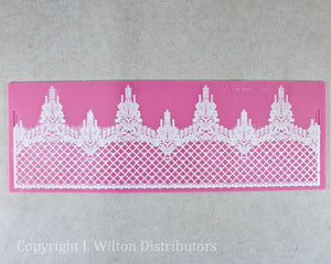 "SILICONE 3D LACE MAT CROWN 14""x5"""