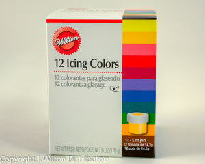 12-ICING COLOUR KIT 1/2 OZ
