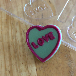 Candy Island Chocolate Mold #606 - Heart Love