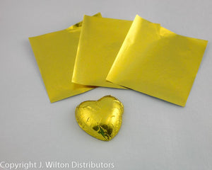 "FOIL CANDY WRAPPERS 3""x3"" 50PC."