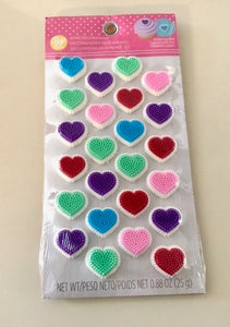 Heart icing decorations