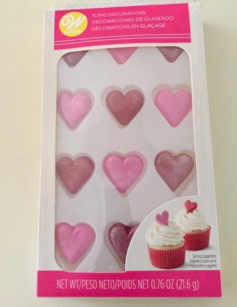 Icing Decorations Royal Icing Valentine Sparkling Heart