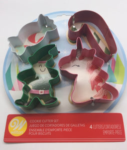 COOKIE CUTTER SET XMAS 4PC.