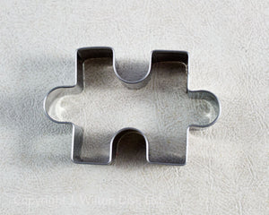 "COOKIE CUTTER STAINLESS STEEL PUZZLE PIECE 2.5""x1.5"""