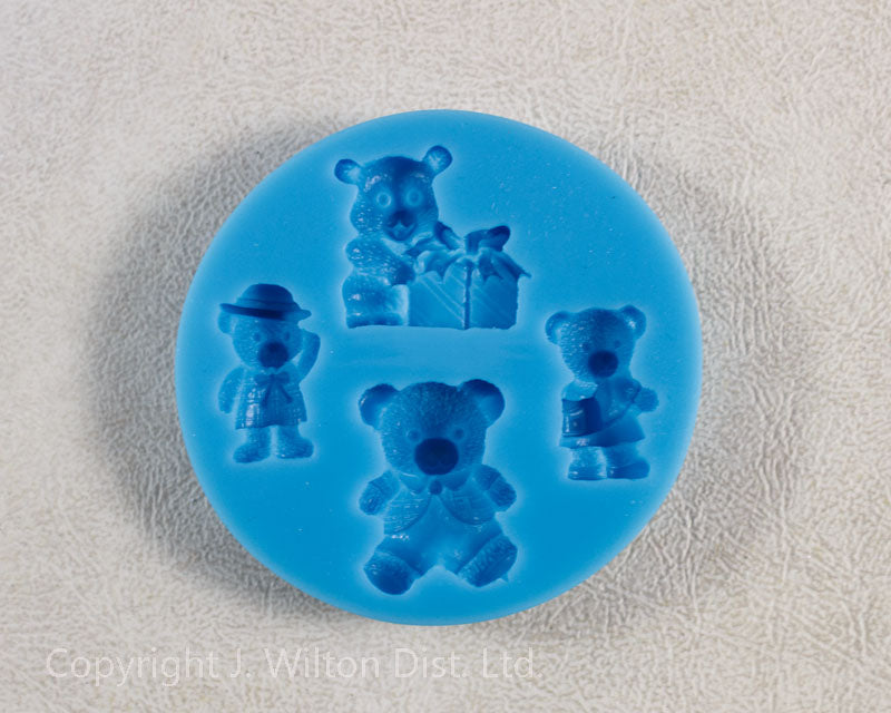 SILICONE MOLD ASSORTED TEDDY BEAR 1pc.