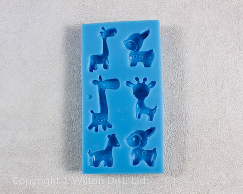 SILICONE MOLD ASSORTED ANIMALS 1pc.