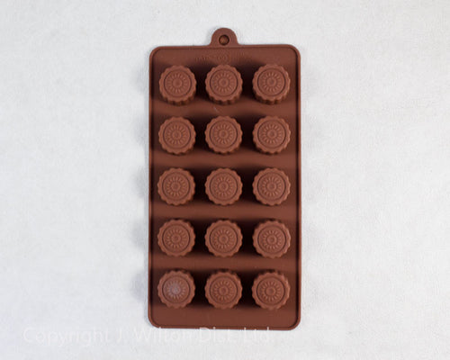 SILICONE CHOCOLATE MOLD BON BON CUPS 1pc.