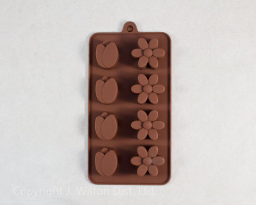 SILICONE CHOCOLATE MOLD BUDS/FLOWERS 1pc.