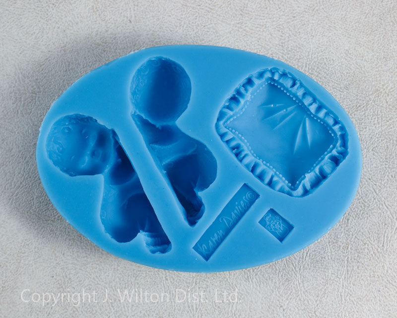 SILICONE MOLD BABY SLEEPING w/ PILLOW 1PC.