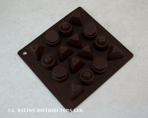 SILICONE CHOCOLATE MOLD ASSORTED ABSTRACT